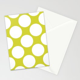 Polka Dots Green Stationery Cards
