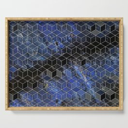 night sky cubed Serving Tray
