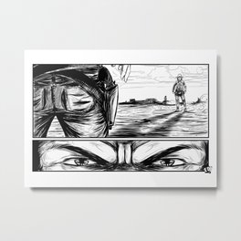 The Old West Battle II Metal Print