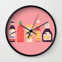 Ex-Condiments Wall Clock