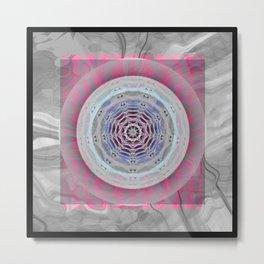 Hyperspace heart & mind meditation abstract mandala Metal Print
