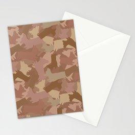 Corgi Terra-cotta Camo Stationery Cards