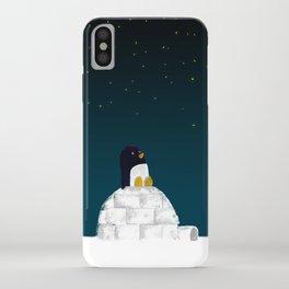 Star gazing - Penguin's dream of flying iPhone Case
