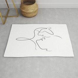The first kiss. Rug