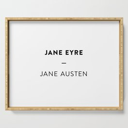 Jane Eyre  —  Jane Austen Serving Tray