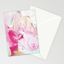 Minty Rose (Abstract Painting) Stationery Cards