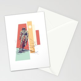 MALE CYCLIST Stationery Cards