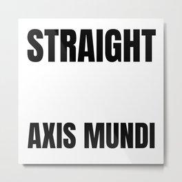 Straight Outta Axis Mundi Supernatural Path to Heaven Dark Side of the Moon Dean Sammy Castiel Metal Print