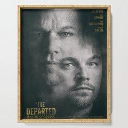 The Departed, Martin Scorsese movie poster, Leonardo DiCaprio, Matt Damon, american mafia film Serving Tray