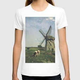 Landscape With Windmill Near Schiedam 1873 By Johan Hendrik Weissenbruch | Reproduction T-shirt