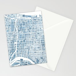 Philadelphia City Map Stationery Cards