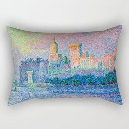 Paul Signac artwork - The Papal Palace, Avignon Rectangular Pillow