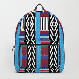 Black Blue Etnic Backpack