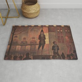 Circus Sideshow by Georges Seurat Rug