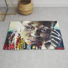 Reverie - Ethnic African portrait Rug