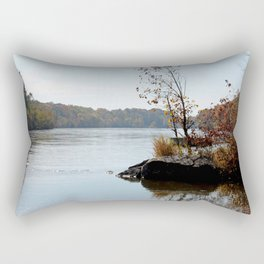 Fall on the River Bank Rectangular Pillow