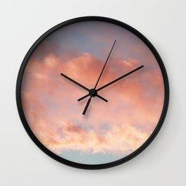 Pink and Blue Sky Over Newport Rhode Island Wall Clock