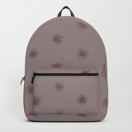 Deep Purple Pink-Purple Splatter Polka Dot Pattern 2021 Color of the Year Epoch Spiced Mulberry Backpack
