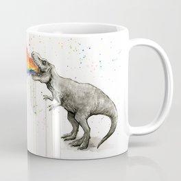 T-Rex Dinosaur Vomits Rainbow Kaffeebecher