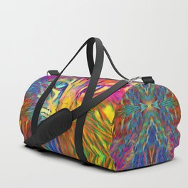 Neon Rainbow Cat Sporttaschen