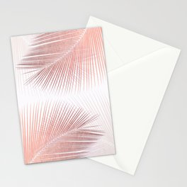 Palm leaf synchronicity - rose gold Stationery Cards