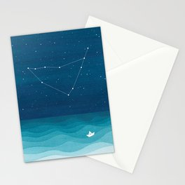 Capricorn zodiac constellation Stationery Cards