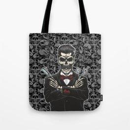 Barber Skull Gentlemen Tote Bag