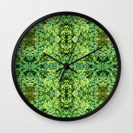 kaleidoscope Green Wall Clock