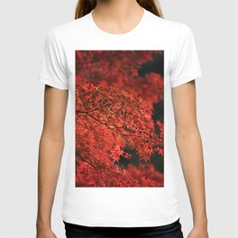 Red Japanese Maple Photography T-shirt
