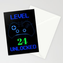 Gamer 24 birthday outfit funny gamer gift Stationery Cards