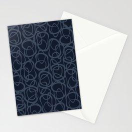 Interlocking Indigo | Pattern Stationery Cards