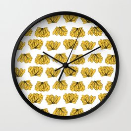 Lettuce vegetable YELLOW Wall Clock