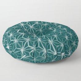 Japanese Geometry - Emerald Floor Pillow