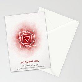 Red Muladhara Chakra Stationery Cards