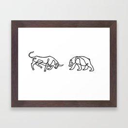 Bull vs Bear Framed Art Print