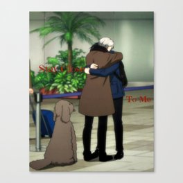 Stay Close To Me - Yuri On ice Canvas Print