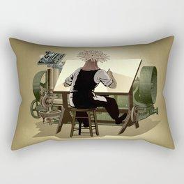 The aspirant to draftsman Rectangular Pillow