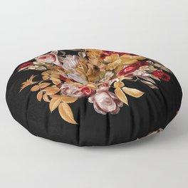 Watercolor Floral Pattern Floor Pillow