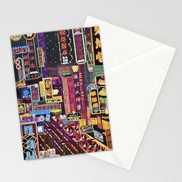 HK Neon Lights Stationery Cards