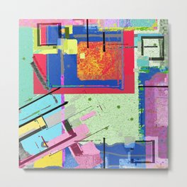 Superfly Muses No. 3 Contemporary Abstract Retro Metal Print
