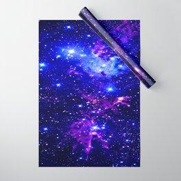 Fox Fur Nebula Galaxy blue purple Wrapping Paper