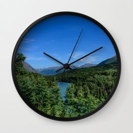 Cooper Landing 4158, Kenai Peninsula, Alaska Wall Clock