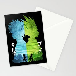 Minimalist Silhouette Gon & Killua Stationery Cards