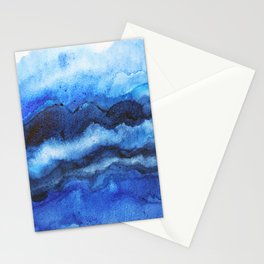 Blue Layers Stationery Cards