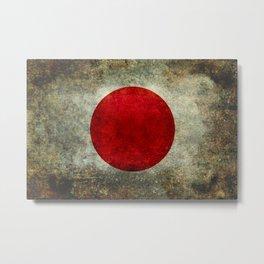 National flag of Japan - Super Grunge Metal Print