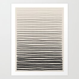 Black Horizontal Lines Art Print