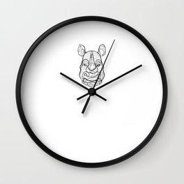 Rhino - One Line Drawing Wall Clock