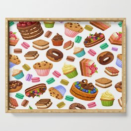 Delightfully Decadent Desserts Pattern Serving Tray