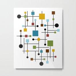 Modern Painting Geometric Seamless Abstract Pattern Mid Century II Metal Print