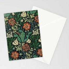 William Morris Compton Floral Art Nouveau Pattern Stationery Cards